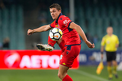 April 8, 2018 - Sydney, NSW, U.S. - SYDNEY, NSW - APRIL 8: Adelaide United forward George Blackwood (14) controls the ball at the A-League Soccer Match between Sydney FC and Adelaide United on April 8, 2018 at Allianz Stadium in Sydney, Australia. (Photo by Speed Media/Icon Sportswire) (Credit Image: © Speed Media/Icon SMI via ZUMA Press)