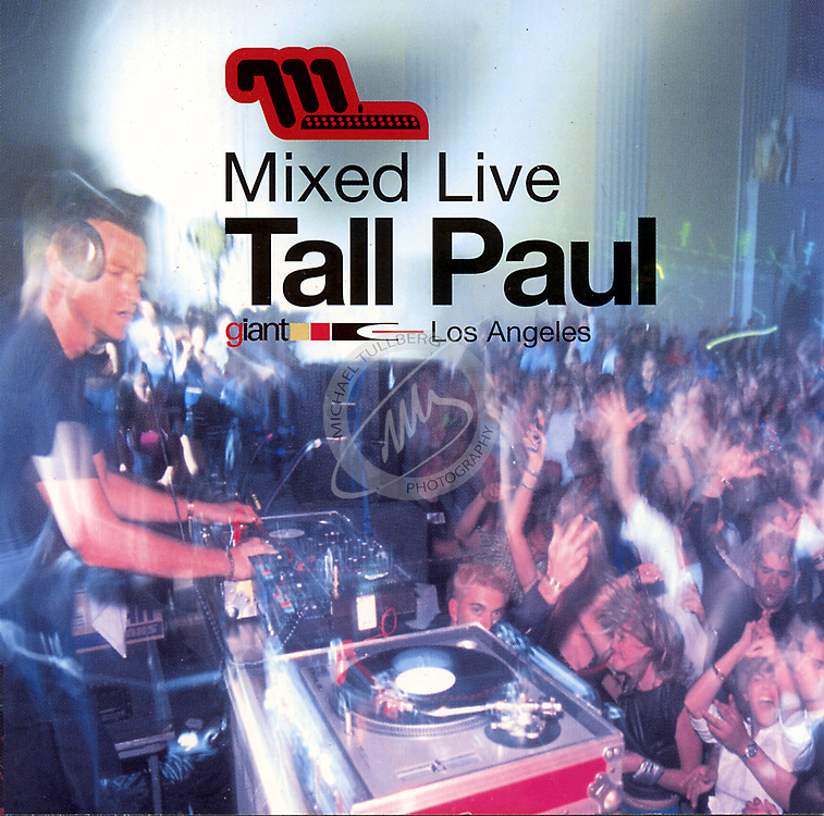 """CD Cover for DJ Tall Paul's """"Mixed Live"""" album, from Moonshine Music."""