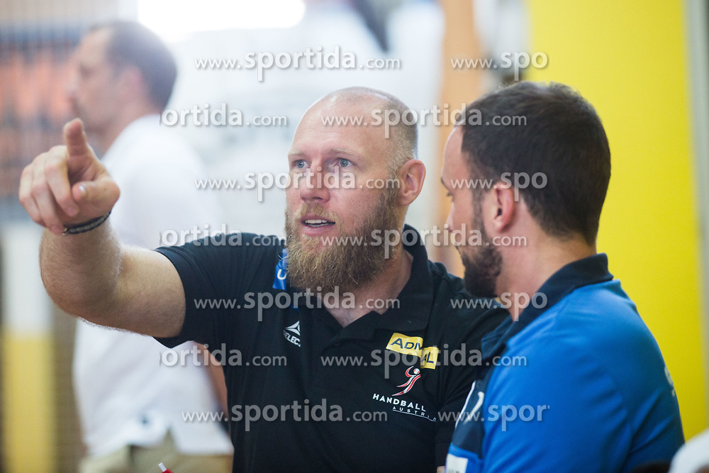 AUT Coach Ales Pajovic during friendly match between Slovenia and Austria in Cerklje na Gorenjskem, Slovenia on 8th of June, 2019 .Photo by Peter Podobnik / Sportida