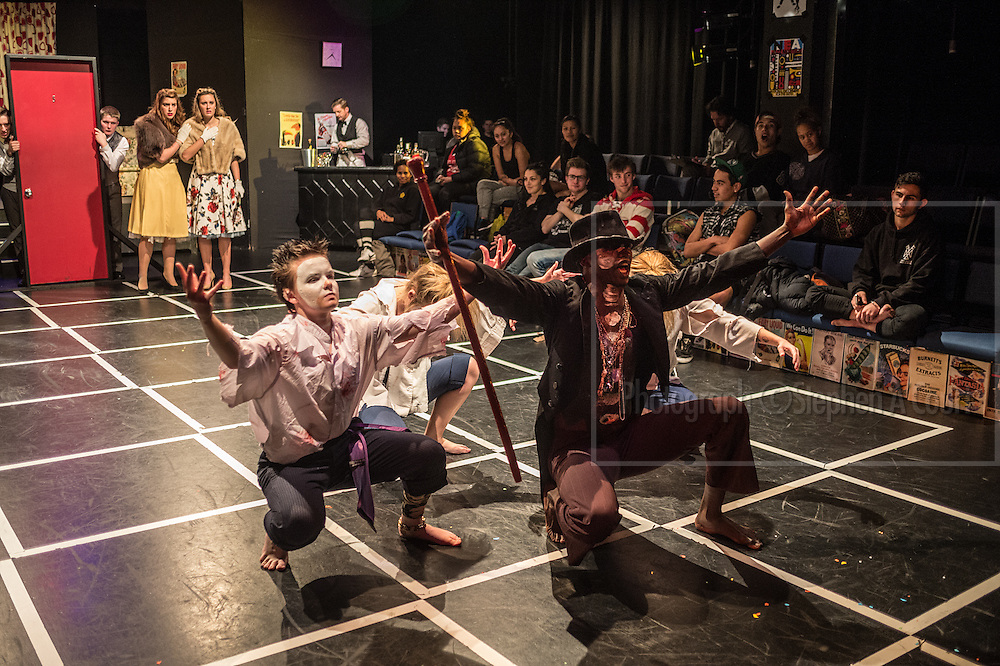Wellington, NZ. 24.06.2014. THE COMEDY OF ERRORS by William Shakespeare. Directed by Richard Finn. At Whitireia Theatre, Vivian Street, Wellington, to 29 June 2014. A production of Whitireia New Zealand's Stage And Screen Arts Programme. Photo credit: Stephen A'Court.  COPYRIGHT ©Stephen A'Court