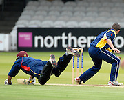 London, GREAT BRITAIN, Toby BAILEY,  diving over the crease, during the MCC vs Europe Match at Lords Cricket ground, England on Thur 07.06.2007  [Photo, Peter Spurrier/Intersport-images].....