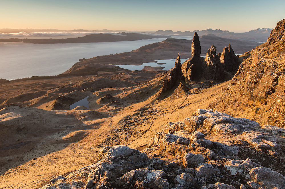 Old Man of Storr at dawn, Isle of Skye, Scotland.