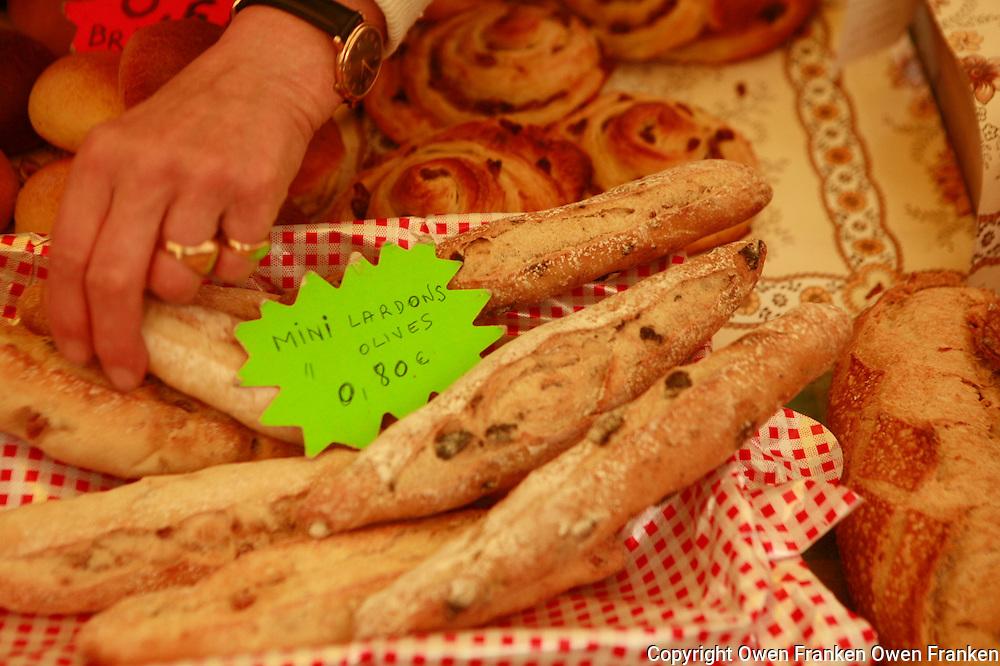 Bread in the market at Place de la Reunion, Paris