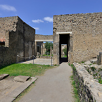 Pompeii, the city buried (and so conserved) by the ashes of 79 b.C. Vesuvius volcano eruption.