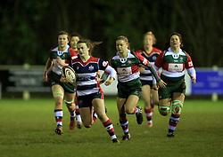 Cat McNaney of Bristol Ladies on the attack - Mandatory by-line: Paul Roberts/JMP - 13/01/2018 - RUGBY - Cleve RFC - Bristol, England - Bristol Ladies v Firwood Waterloo Ladies - Tyrrells Premier 15s