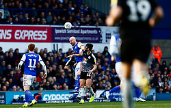 James Collins of Ipswich Town heads the ball - Mandatory by-line: Phil Chaplin/JMP - FOOTBALL - Portman Road - Ipswich, England - Ipswich Town v Reading - Sky Bet Championship
