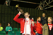 Whitehawk fan during the The FA Cup 2nd round replay match between Whitehawk FC and Dagenham and Redbridge at The Enclosed Ground, Whitehawk, Brighton, United Kingdom on 16 December 2015. Photo by Ellie Hoad.