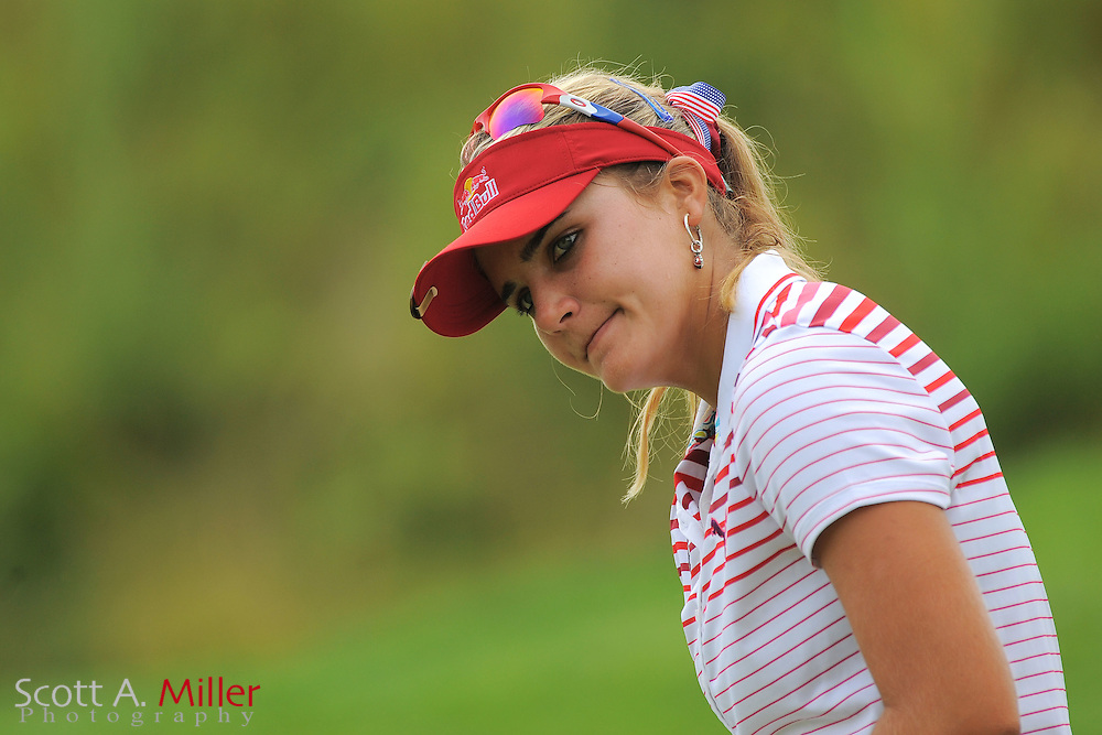 Lexi Thompson during a practice round for the US Women's Open at Blackwolf Run on July 4, 2012 in Kohler, Wisconsin. ..©2012 Scott A. Miller