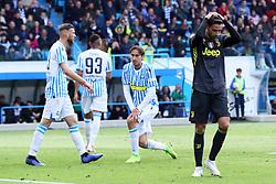 """Foto LaPresse/Filippo Rubin<br /> 13/04/2019 Ferrara (Italia)<br /> Sport Calcio<br /> Spal - Juventus - Campionato di calcio Serie A 2018/2019 - Stadio """"Paolo Mazza""""<br /> Nella foto: MATTIA DE SCIGLIO (JUVENTUS)<br /> <br /> Photo LaPresse/Filippo Rubin<br /> April 13, 2019 Ferrara (Italy)<br /> Sport Soccer<br /> Spal vs Juventus - Italian Football Championship League A 2018/2019 - """"Paolo Mazza"""" Stadium <br /> In the pic: MATTIA DE SCIGLIO (JUVENTUS)"""