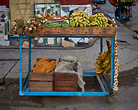 Fruit and Vegetable Cart. Morning Walkabout in Old Havana. Image taken with a Leica T camera and 23 mm f/2 camera.