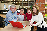 Portershed members  Joe Smyth Altocloud, Rob O' Shaughnessy, Reverbeo, Anna Downes, ShowHouz and Norma Carty PerfectExpense.com  Photo:Andrew Downes, xposure.