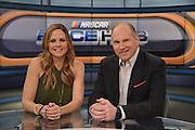 "The broadcast team and analysts for Fox Sports ""Race Hub""   which is broadcast from the Charlotte, North Carolina studios.<br /> Shannon Spake and Adam Alexander (2017)"