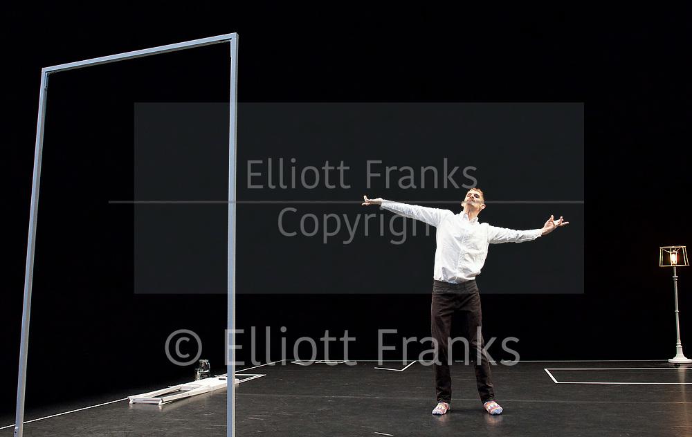 Wild Card : Dan Daw <br /> at Lilian Baylis Studio, Sadler's Wells, London, Great Britain <br /> rehearsal <br /> 29th March 2017 <br /> <br /> <br /> <br /> On One Condition <br /> Dan Daw <br /> <br /> <br /> Photograph by Elliott Franks <br /> Image licensed to Elliott Franks Photography Services