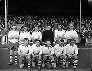 02/03/1958<br /> 03/02/1958<br /> 02 March 1958<br /> Soccer, League of Ireland: Drumcondra v Waterford at Tolka Park. The Waterford team.