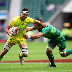 Sam Myers of Australia makes a break