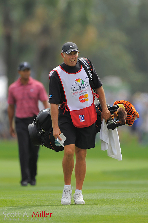 March 29, 2009; Orlando, FL, USA;  Tiger Woods' caddie Steve Williams on the first hole during the final round of the Arnold Palmer Invitational at the Bay Hill Club and Lodge. ©2009 Scott A. Miller
