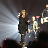 Jordan Feliz surprises the crowd Thursday night with a new track off his latest album to kickoff the 2018 Winter Jam concert at the BancorpSouth Arena in Tupelo.