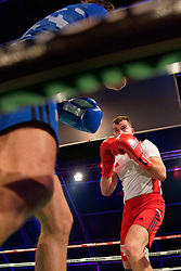 17-11-2019 NED: World Port Boxing Netherlands - Kazakhstan, Rotterdam<br /> 3rd World Port Boxing in Excelsior Stadion Rotterdam / Sander Tol (rd) in action against Joost Dorhout Mees