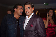 TAMER HASSAN; JAMES ARGENT, The London Bar and Club awards. Intercontinental Hotel. Park Lane, London. 6 June 2011. <br /> <br />  , -DO NOT ARCHIVE-© Copyright Photograph by Dafydd Jones. 248 Clapham Rd. London SW9 0PZ. Tel 0207 820 0771. www.dafjones.com.