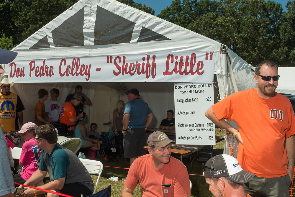 """July 30, 2017 - Luray, VA - Don Pedro Colley """"Sherrif Little"""" autograph tent at Cooter's Last Stand,"""" an event that reunites the cast of the television show """"The Dukes of Hazard,"""" which celebrates Southern pride and hosted by Ben Jones. Photo by Susana Raab/Institute"""