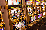 Slot Machines in a casino in Las Vegas, NV.