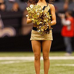 December 12, 2010; New Orleans, LA, USA; New Orleans Saints Saintsations cheerleaders perform during the first half at the Louisiana Superdome. Mandatory Credit: Derick E. Hingle-US PRESSWIRE