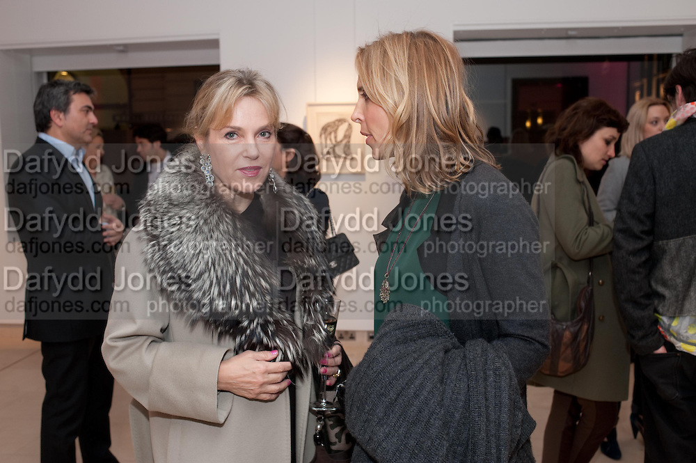 YVONNE WINKLER; TATJANA D;ABO;, SANCTUARY: BRITAIN'S ARTISTS AND THEIR STUDIOS -Book launch, Christie's King Street, St James 13 March 2012.