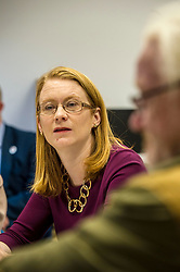 Pictured: Shirley-Anne Somerville<br /> Today Social Security Secretary Shirley-Anne Somerville visted Prospect Community Housing Association in Wester Hailes, Edurgh, and heard from staff and their clients who are  affected by Universal Credit. <br /> <br /> Ger Harley | EEm 31 October 2018