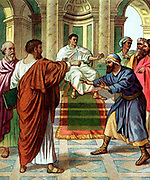 Barnabas and Saul go out as missionaries
