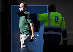 © Licensed to London News Pictures. 15/06/2020. London, UK. A commuter at Victoria Station in London wearing a face mask, on the day the the easing of lockdown rules means all passengers must wear face masks. Government has introduced further measures to allow non-essential shops and services to reopen under social distancing conditions. Photo credit: Ben Cawthra/LNP