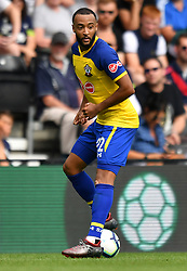 """Southampton's Nathan Redmond during a pre season friendly match at Pride Park, Derby. PRESS ASSOCIATION Photo. Picture date: Saturday July 21, 2018. Photo credit should read: Anthony Devlin/PA Wire. EDITORIAL USE ONLY No use with unauthorised audio, video, data, fixture lists, club/league logos or """"live"""" services. Online in-match use limited to 75 images, no video emulation. No use in betting, games or single club/league/player publications."""