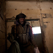 January 21, 2013 - Diabaly, Mali: Mali army men check a military base in central Diabaly, for unexploded ordinance, a day after Mali government troops regain control of the city. Diabaly was under islamist militants control since the 14th of January.<br />