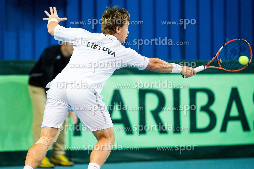 Richardas Berankis of Lithuania  during Davis Cup Slovenia vs Lithuania competition, on October 30, 2015 in Kranj, Slovenia. Photo by Vid Ponikvar / Sportida