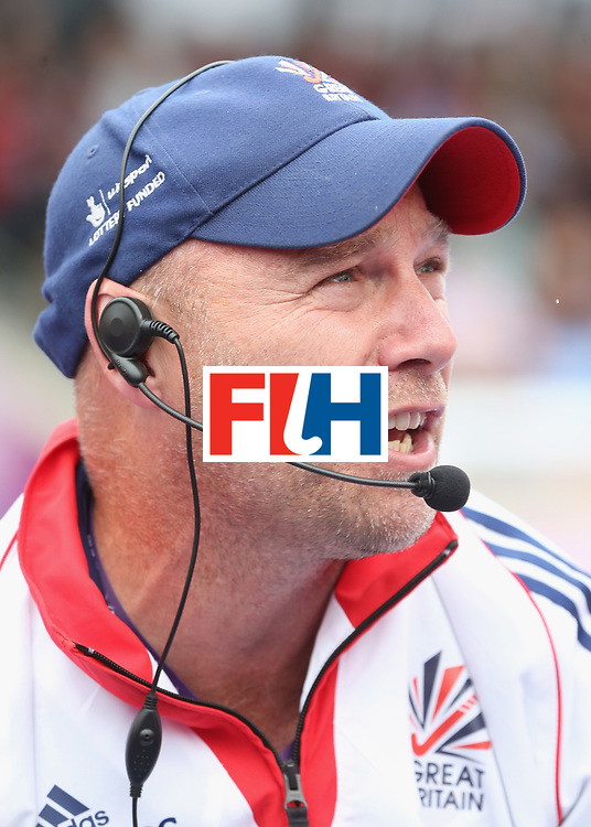 LONDON, ENGLAND - JUNE 19:  Great Britain coach Craig keegan during the FIH Women's Hockey Champions Trophy match between Netherlands and Great Britain at Queen Elizabeth Olympic Park on June 19, 2016 in London, England.  (Photo by Alex Morton/Getty Images)