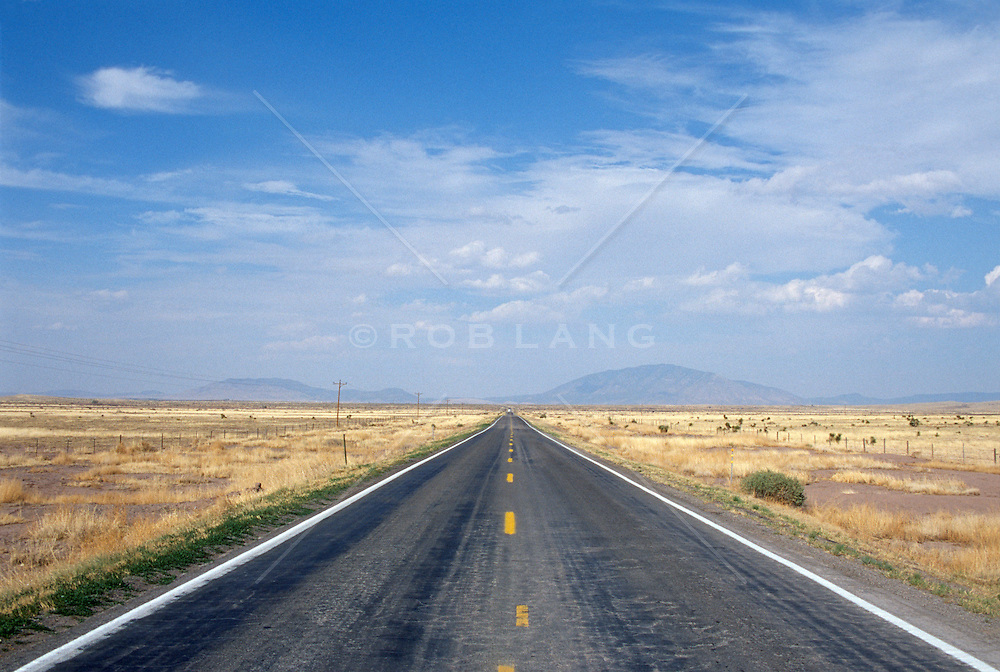 Deserted Road In New Mexico
