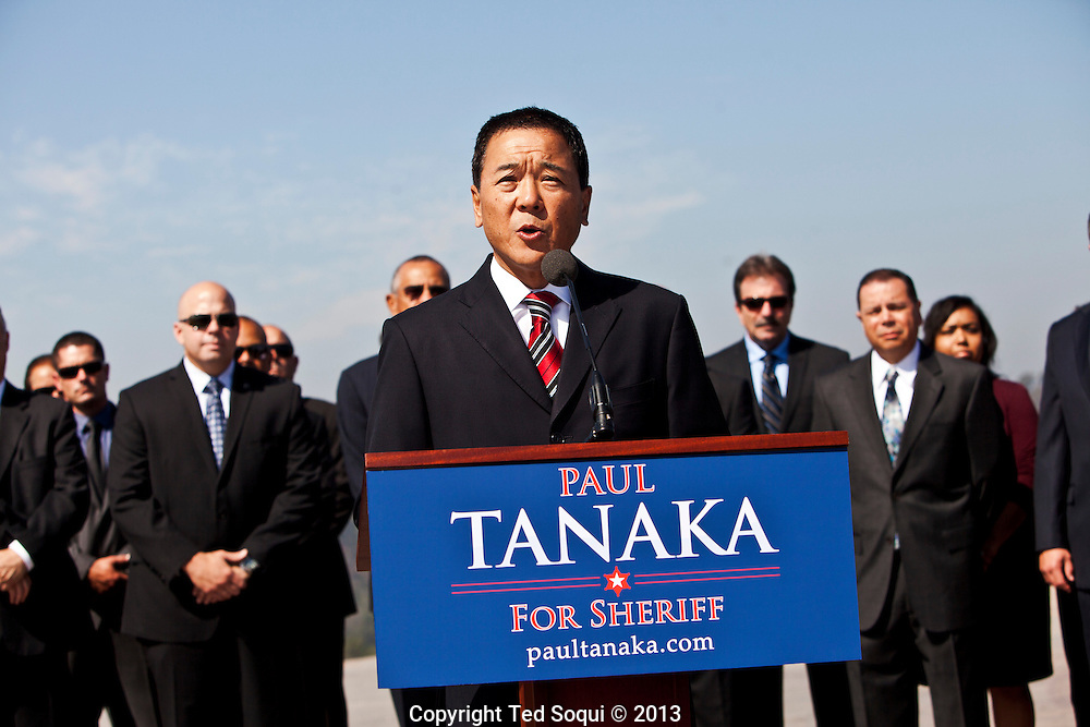 Former LA Undersheriiff Paul Tanaka announces that he will run for LA Co. Sheriff. The LA County Sheriffs Dept. is under scrutiny by LA officials for the inhumane treatment of prisoners in the jails which the Sheriffs dept. oversees. <br /> Lee Baca is the current Sheriff and is also seeking re-election.