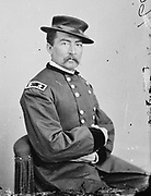 Philip Henry Sheridan (1831-1888) United States Army officer. In American Civil War a general in the Union (northern) army under Ulysses  S. Grant. Involved in protection and development of Yellowstone Nation Park. Photograph c1865.