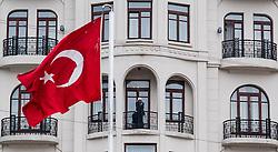 THEMENBILD - Türkische Flagge. Istanbul, früher Konstantinopel, ist die größte Stadt der Türkei. Sie liegt am Bosporus und liegt am Schnittpunkt von Asien und Europa. Aufgenommen am 04.03.2016 in Istanbul, Türkei // Turkish flag. Istanbul, former Constantinople, is the biggest City of Turkey. Turkey on 2016/03/04. EXPA Pictures © 2016, PhotoCredit: EXPA/ Michael Gruber