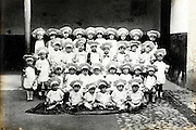 vintage formal group photo of little children dressed up as cook France