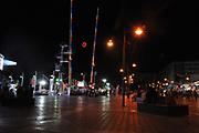 Israel, Eilat The hotel strip at night