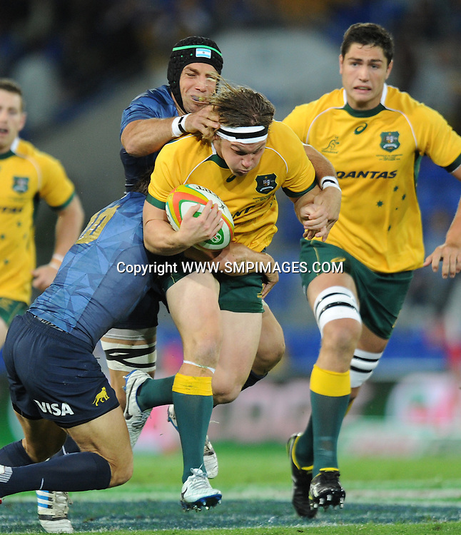 MICHAEL HOOPER - AUSTRALIA -  PHOTO: SCOTT DAVIS - SMPIMAGES.COM - AUSTRALIA V ARGENTINA, 13th SEPTEMBER 2014 - Images from the Australian Wallabies V Argentina Pumas Rugby Championships test match, being played at  CBUS Super Stadium, Robina, Gold Coast. This image is for Editorial Use Only. Any further use or individual sale of the image must be cleared by application to the Manager Sports Media Publishing (SMP Images). PHOTO : Scott Davis SMP IMAGES