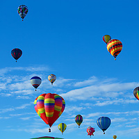 An Armada of Hot Air Balloons fills the sky - a regular treat in the Duke City each year.