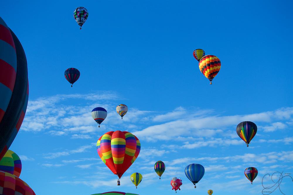 An Armada of Hot Air Balloons fills the sky - a regular treat in the Duke City each year.