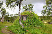 Gamme, traditional hous in the mountains, build by the south sami people of Saanti Sijte. Reindeer herders in Mid-Norway.