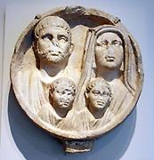 Roman funerary relief circa 2nd - 3rd century AD.