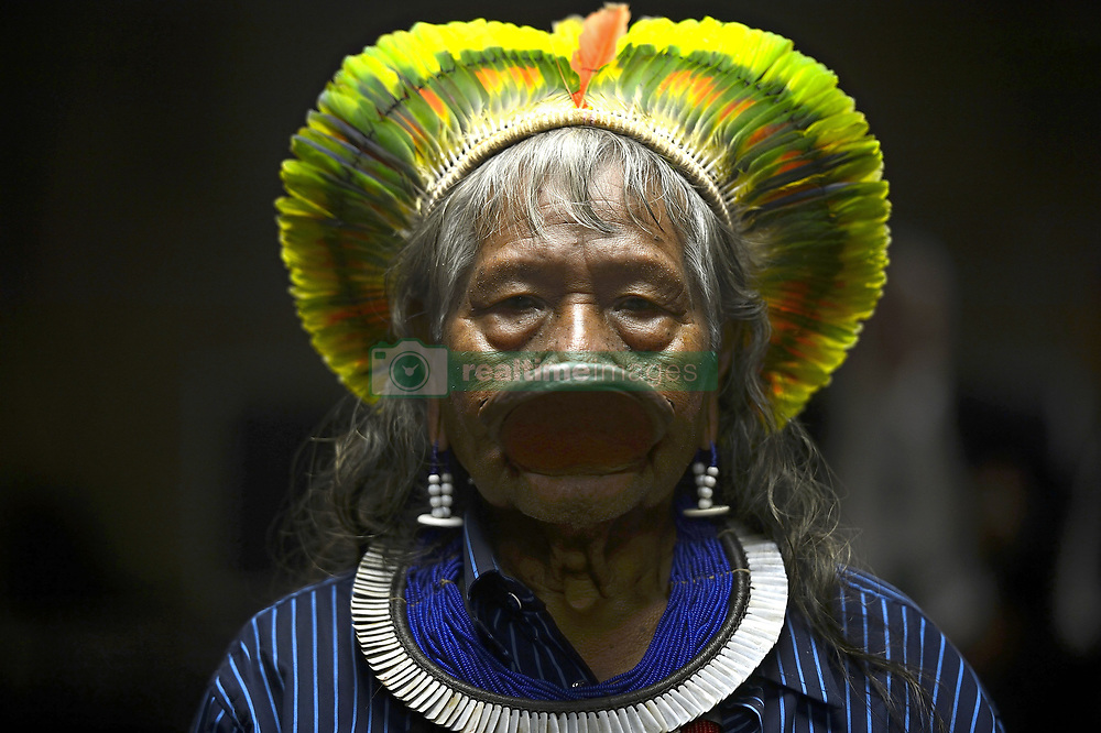 April 29, 2016 - Rio De Janeiro, Brasil - Brazilian indigenous chief Raoni Metuktire of the Kayapo ethnic group during the 1st World Congress on Environmental Law April 29, 2016 in Rio de Janerio, Brazil. (Credit Image: © Fernando Frazao/Planet Pix via ZUMA Wire)