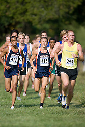 Virginia Cavaliers Michael Hagos (411).Virginia Cavaliers Trey Miller (413)..The Virginia Cavaliers hosted the 2007 Lou Onesty Invitational Cross Country meet at Panorama Farms near Charlottesville, VA on September 7, 2007.