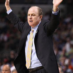 Mar 17, 2011; Tampa, FL, USA; UCLA Bruins head coach Ben Howland during the first half of the second round of the 2011 NCAA men's basketball tournament against the Michigan State Spartans at the St. Pete Times Forum.  Mandatory Credit: Derick E. Hingle