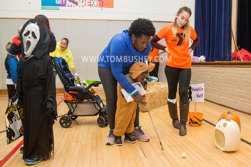 Middletown, New York - Children  enjoy the YMCA of Middletown's Halloween Fall Festival at The Center for Youth Programs on Oct. 22, 2016.