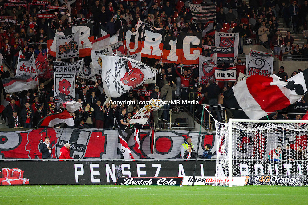SUPPORTERS GUINGAMP  - 03.12.2014 - Guingamp / Caen - 16eme journee de Ligue 1 <br /> Photo : Vincent Michel / Icon Sport